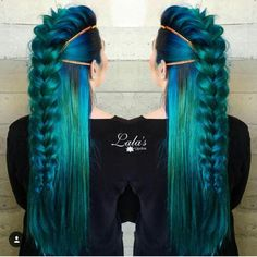 71 ideas for green hair dyes that you will love - hair - Hair Styles New Braided Hairstyles, Pretty Hairstyles, Braided Updo, Braided Faux Hawk, Updo Hairstyle, Latest Hairstyles, Hairstyle Ideas, Braided Mohawk Black Hair, Fairy Hairstyles
