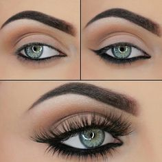 """""""A tutorial from @maya_mia_y just in time to use your new Maya Mia Palette! 1⃣ Apply Vanilla all over the lid and up to the brow bone 2⃣ Apply Warm Taupe…"""""""