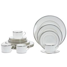 Lenox Columbus 'Circle' 20-piece Bone China Dinnerware Set | Overstock.com Shopping - The Best Deals on Formal Dinnerware