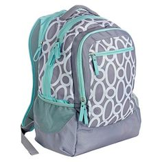 Studio C One Hip Chick Backpack – Gray/Mint<br>Go back to school in style with a mix of classic design and trendy colors!  The One Hip Chick backpack features convenient compartments for all your storage needs and a coordinating polka dot interior, because we think it's important to be beautiful on the inside too!<br> Product Features<br>• Side mesh pockets are perfect for water bottles and other extras offering easy accessibility.<br>...