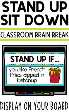 Stand Up Sit Down Brain Break