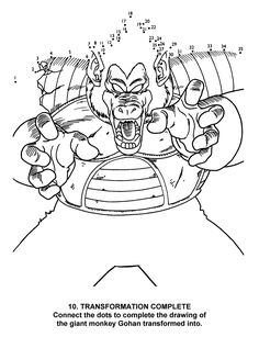 Dragon Ball Z Coloring Pages Sketch Page