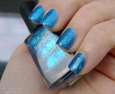 Barry M blue glitter