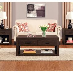 Modern Coffee Table Furniture Sofa Tables 2 Storage Drawers Decor End Accent New…