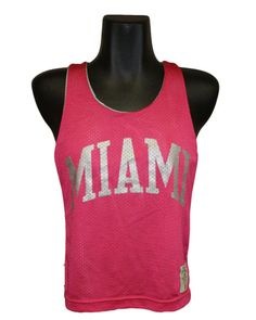 League Miami Reversible Pinnie Dark Pink/ Sliver  12131341