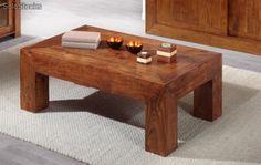 Mesa de centro en madera maciza de palisandro