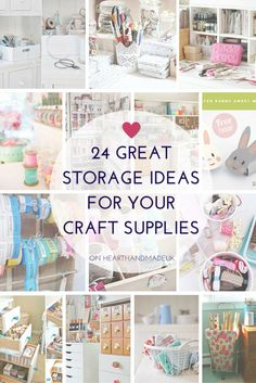 Sewing Craft 24 Great Craft Storage Ideas for your craft room - click through for lots of inspiration! - Are you in need of some amazing storage ideas to organise your craft room or home office? I've found 24 solutions that might just blow your mind