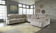 Toletta - Granite - 6 Pc RAF Power Chaise Sectional