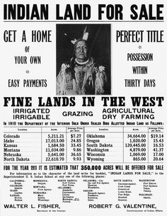 "In 1455 Pope Nicholas V proclaimed that Portugal and Spain could conquer North America in the name of Christian expansion. This 'Doctrine of Discovery' was used to justify stripping Indian tribes their lands and their ways of life. ""Indian Land For Sale"". The  genocide of the American Indians was carried out against every aspect of their existence. 10,000 of Indians were sold as slaves alongside African slaves and were even sold to other colonies in the Caribbean and South America. By LR."