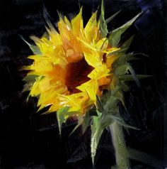 Sunflower Study 5, painting by artist Qiang Huang