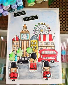London Mouse, watercolor mft stamps