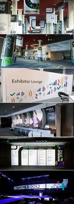 @Blackboard BbWorld 2012 Event #branding #design #signage by HZDG
