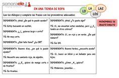 A1 - La ropa y los pronombres de objeto directo, de Clara Sánchez Marcos (Sonora ELE - Online Spanish School)