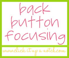 Back Button Focusing: Do you BBF? By Laurie Flickinger - Contributor 41 Comments It has been a couple of years now since I first discovered. Improve Photography, Hobby Photography, Photography Basics, Photography Lessons, Photoshop Photography, Photography Editing, Photography Tutorials, Photography Business, Love Photography