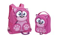 Cat Backpack and Lunch Bag Cat Backpack, Back To School, Lunch, Backpacks, Cats, Gatos, Kitty Cats, Lunches, First Day Of School