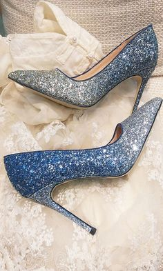 Sparkle Gradient Blue High Heels Women Shoes Gradient Blue High Heels Women Shoes – Trendyupgirls Shoes Heels Heeled shoes will alway. High Heels Outfit, High Heels Boots, Cute High Heels, Heels Outfits, Thigh High Boots, Cute Shoes, Blue Sandals Heels, Very High Heels, Sandals Outfit