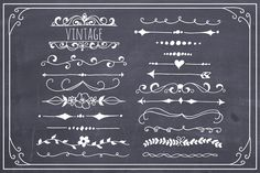 Hand Drawn Text Dividers Vector by The Pen & Brush on Creative Market