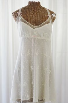 2afd4ad9dc Flora Nikrooz Chantilly Sheer Lace Overlay Nightgown New Old Stock XL