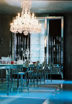 More Philippe Starck. This time chandeliers. Starck has a serious, SERIOUS thing for chandelie. Philippe Starck, Plywood Furniture, George Nelson, Gio Ponti, Best Interior, Interior And Exterior, Crystal Room, Interior Decorating, Interior Design