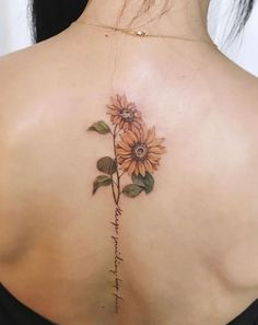 sunflower Spine Tattoo 1.	♥TATTOOS #tattoo #tatuagem #tattoos #tattoo2me #ink #tatuagens #tatuagensfemininas #tattooed #tatuagensdelicadas #inspirationtattoo #inked… #forearmtattoos #tattoodesigns #tattooideas #art #tattoosdesigns #art #stylish #tattoos