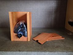 Handcrafted dispenser for 3L boxed wine bags. by Spoutbox on Etsy