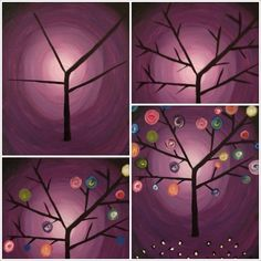 "Evolution of the ""Vibrant Tree"" Painting with a Twist"