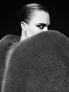 Cara Delevingne by Hedi Slimane for Saint Laurent La Collection De Paris Campaign