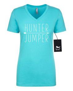 eff8e10dfb75 Hunter Jumper | Horse | Equestrian | Women's Fitted V-Neck Tee | Fashion  Fit | Soft. Horse T ShirtsEnglish ...