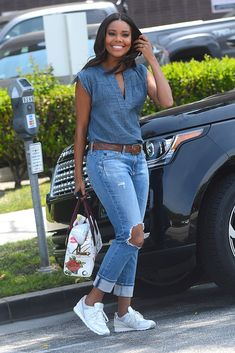 Fresh new ways to style your jeans, as inspired by celebrities we love like Gabrielle Union. Click for more!