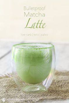 Bulletproof Matcha Latte (low-carb, keto, paleo)