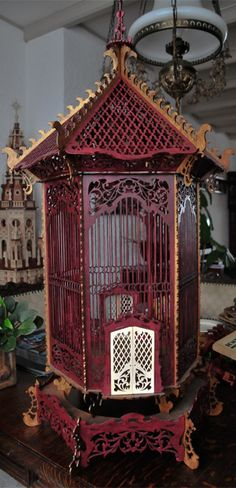 French birdcage, scroll saw fretwork pattern