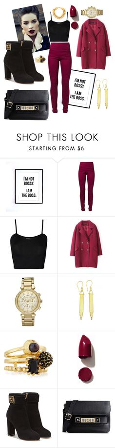 """""""Untitled #204"""" by brutus061 ❤ liked on Polyvore featuring Pieces, WearAll, Michael Kors, Zara Taylor, Eddie Borgo, NARS Cosmetics, Salvatore Ferragamo, Proenza Schouler and Stephanie Kantis"""