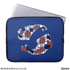 Shop Koi Fish In Dots Laptop Sleeve created by Critterfly. Computer Sleeve, Custom Laptop, Middle Schoolers, Girl Outfits, School Outfits, Tween, Koi, Laptop Sleeves, Back To School