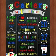 Uno archivo de cumpleaños temática pizarra UNO por CraftonCrafters