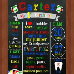 This listing is for an adorable UNO Themed First Birthday Chalkboard! This is the perfect addition to your birthday party and/or 1 year photos!