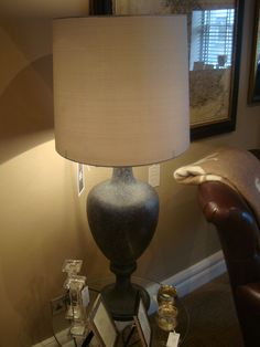 William Granite lamp in the Richard Grafton Interiors Harrogate showroom.