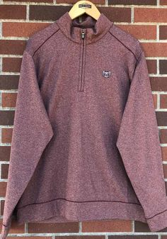 Cutter and Buck Missouri State Bears Mens Maroon Shoreline Long Sleeve 1/4 Zip Pullover - 13491041 Bear T Shirt, Great Books, Stay Warm, Missouri, Stretch Fabric, Blues, Unisex, Pullover, Zip