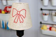 DIY: Bestickter Lampenschirm via blog.dawanda.com