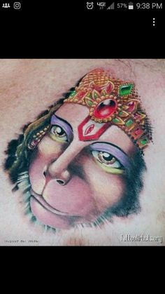 My next big tattoo will be of my patron and adored Hanuman! Trying to decide if I just want his face or a full body image. Hanuman Tattoo, Kali Tattoo, Big Tattoo, Shri Hanuman, Krishna, Full Back Tattoos, Fresh Tattoo, Monkey King, Unique Tattoos