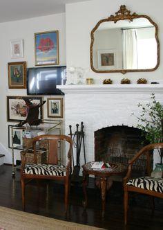 DM living room fireplace tv art wall