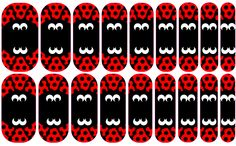 """Custom Jamberry nail wraps! """"Lady Bug!"""" Sea Anchors Away"""" by Cheyenne Keith. Go to https://www.facebook.com/CheyenneKeithJamberryIndependentConsultant to contact Cheyenne in order for purchase!"""