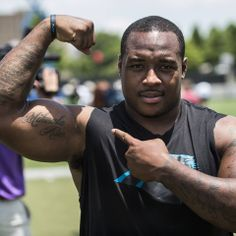 from Carolina Panthers Next time you hear thunder in Charlotte, it might just be Mike Tolbert flexing.