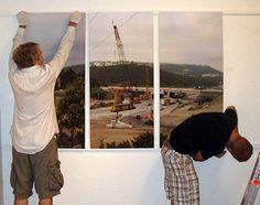 Как правильно повесить модульную картину на стену?