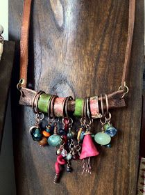 Boho Jewelry..so simply made leather n metal wow