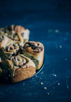 Brioche Nutella Buns with a Maple Glaze