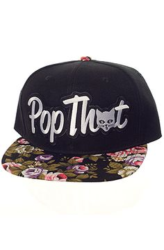 96a7a2e8077 The Pop That Snapback - Black Floral Brim by Paper Root. GET 25%OFF · Snap  BacksBaseball HatsJc ...