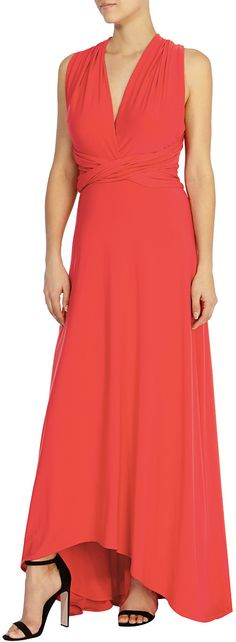 Womens coral red corwin hi low maxi dress from Coast - £119 at ClothingByColour.com