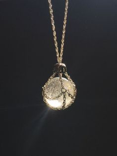 Chain Cloaked Crystal Ball Pendant Necklace