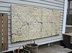Tin Ceiling Tile Antique Architectural Salvage Rustic