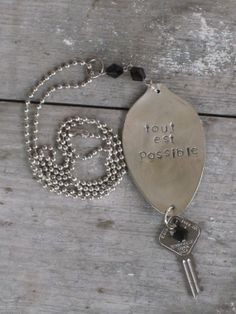 Stamped Spoon Necklace   Tout est possible www.laughingfrogstudio.etsy.com $20.00